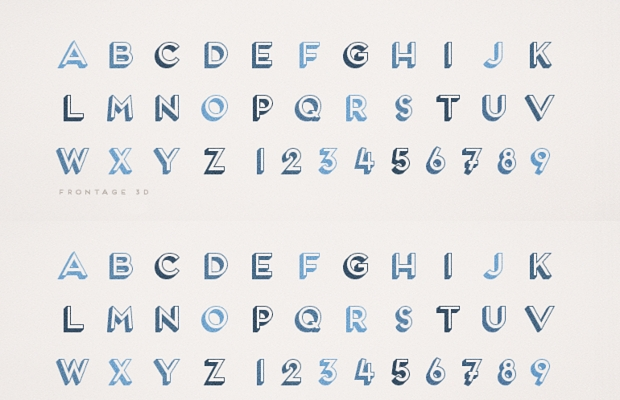 frontage 3d font