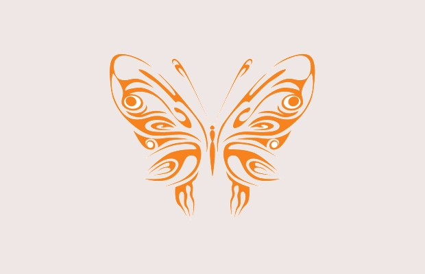 tribal butterfly clipart