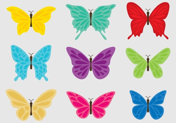 colorful butterfly clipart design