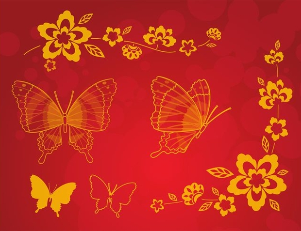 red butterfly clipart