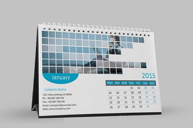 Corporate Calendar Design 2016 : Desk calendars psd ai indesign eps design