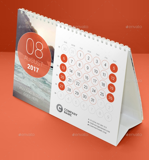 Monthly Calendar Design Creative : Desk calendars psd ai indesign eps design