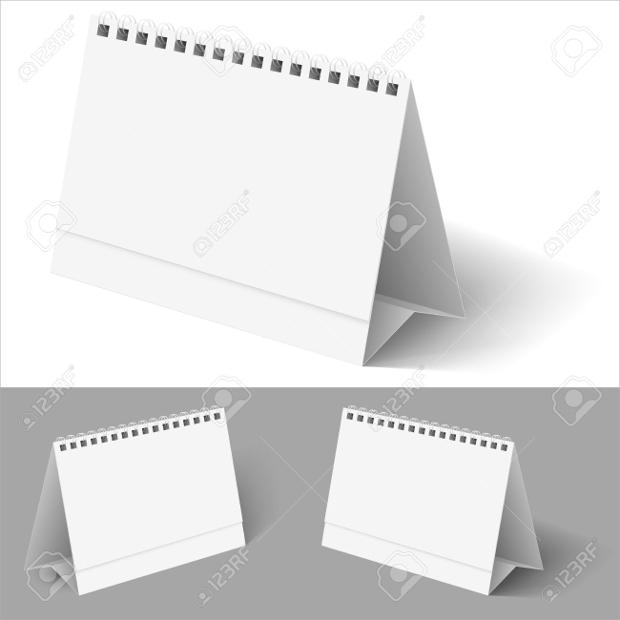 white desk calendar design
