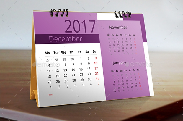 multipurpose desk calendar