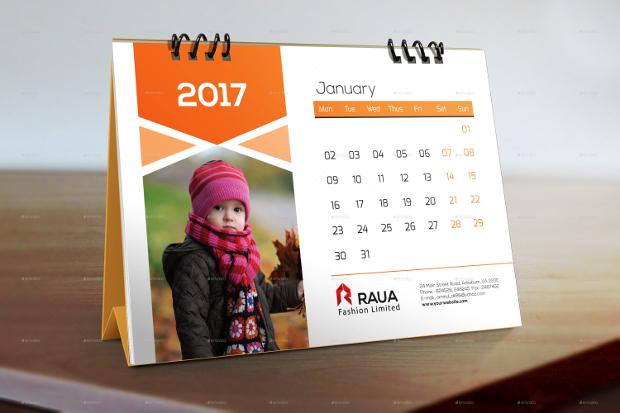 new year desk calendar design