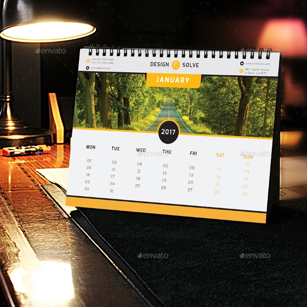 office desk calendar design