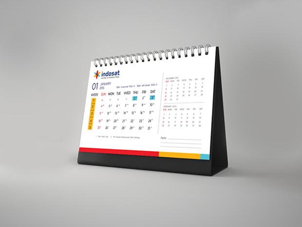 company desk calendar design