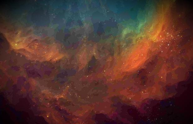 Watercolor Galaxy Texture