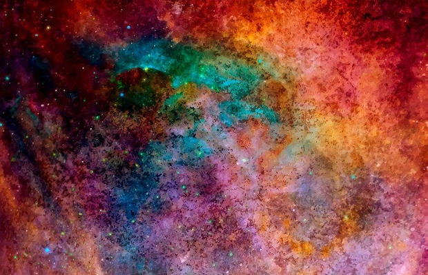 Watercolor Outer Space Texture