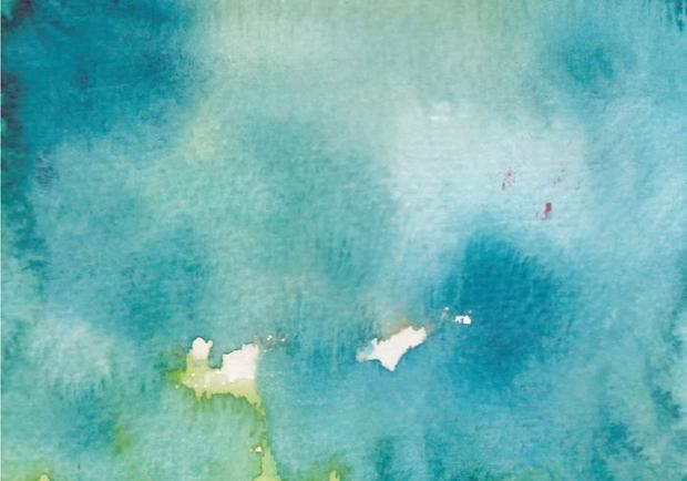 Ocean Blue Watercolor Texture