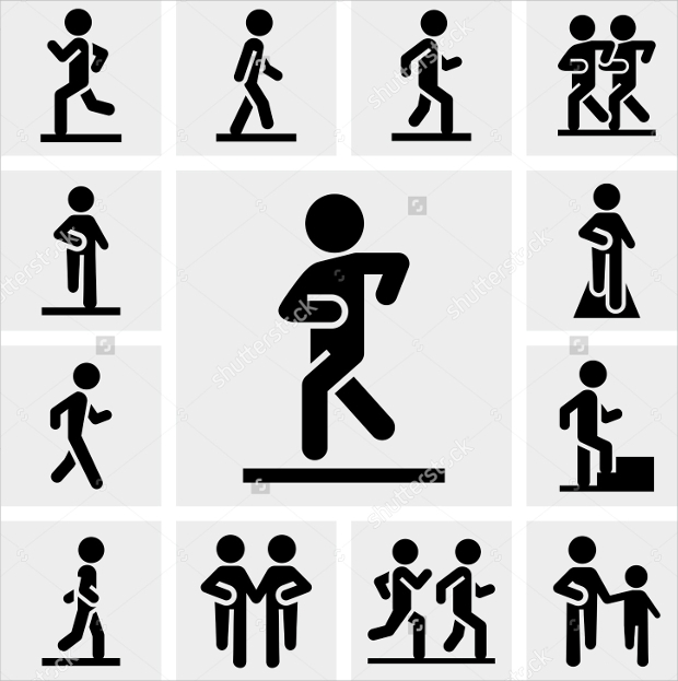 person-walking-icons