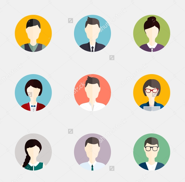 Flat Colorful Person Icons