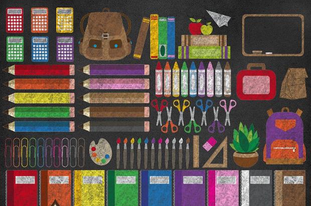 chalkboard school clipart