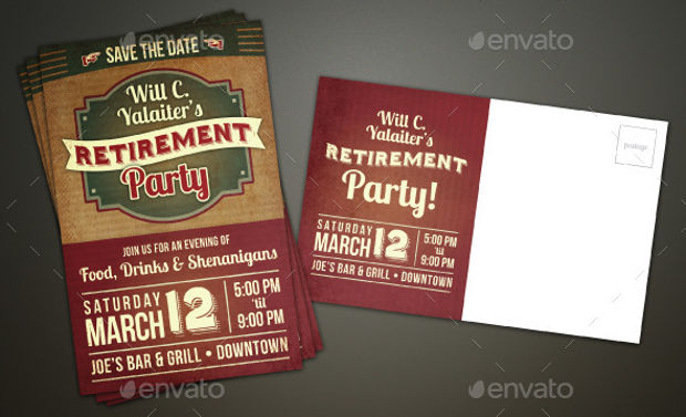 18  retirement invitation designs - psd  ai  eps