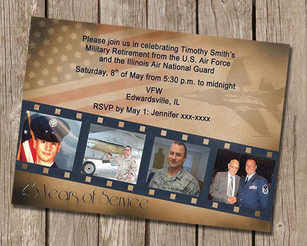 Military Retirement Invitation Design