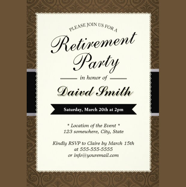 Vintage Retirement Party Invitation