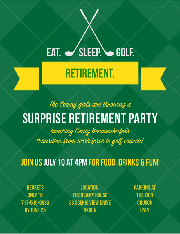 15+ Retirement Invitations - Printable PSD, AI, EPS | Design ...