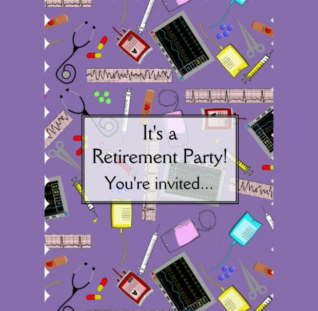 Nurse Retirement Invitation Design
