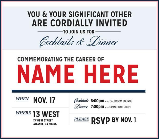 Patriotic Retirement Invitation