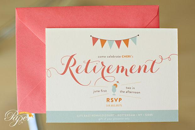 Simple Retirement Invitation