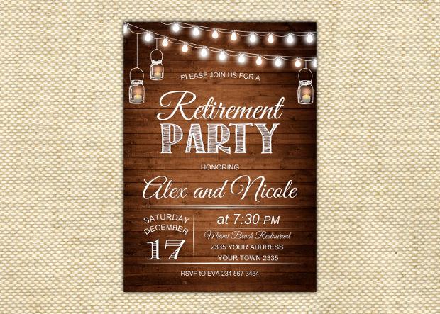 Rustic Retirement Invitation