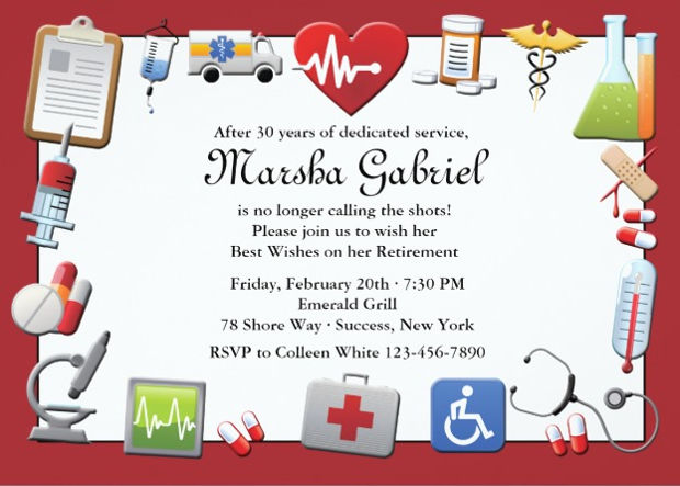 Medical Retirement Invitation