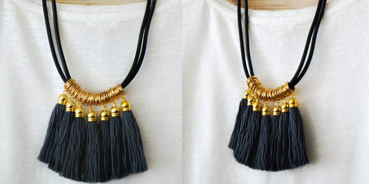 pearl and shine jewelry gray fringe necklace