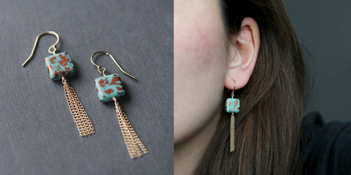 tassel bead earrings