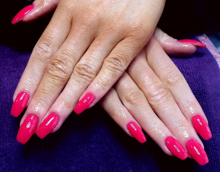 Gel Nail Designs Hot Pink Ftempo