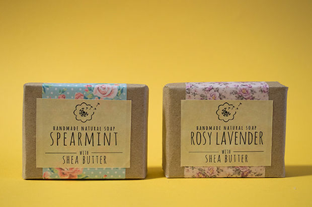 handmade soap packaging design