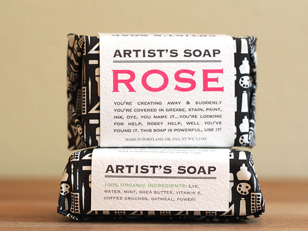 vintage soap packaging design