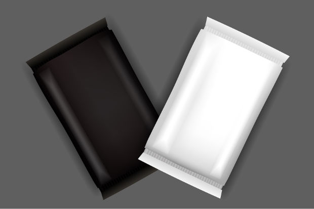 white and black soap packaging