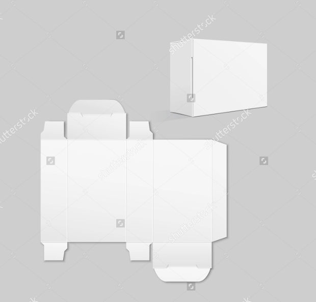 white soap box packaging design