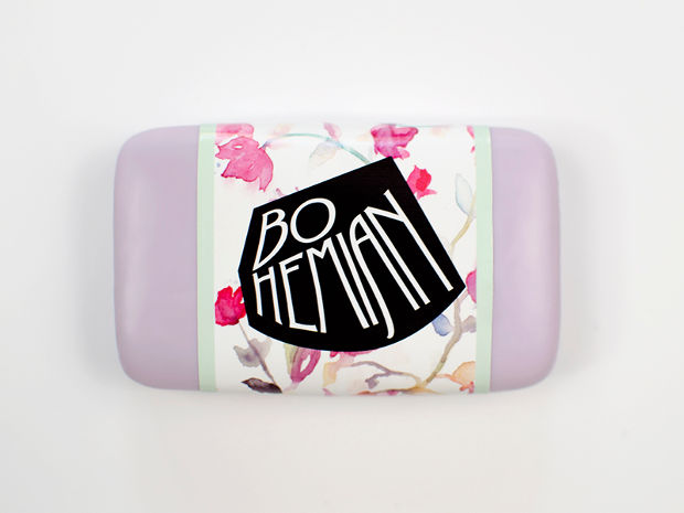 bohemian soap packaging
