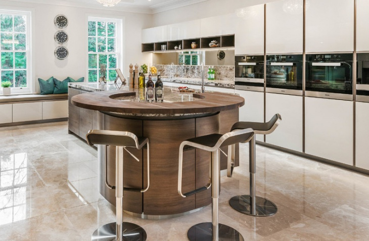 Contemporary Round Kitchen Island