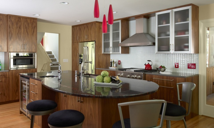 Round Granite Kitchen Island