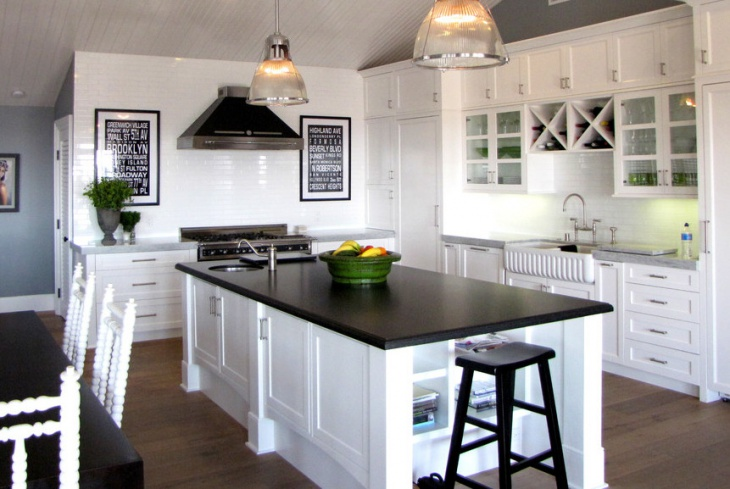 Black Granite Kitchen Island