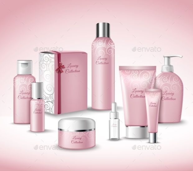 female cosmetic packaging design