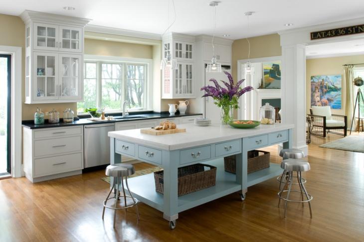 rolling kitchen island cabinet
