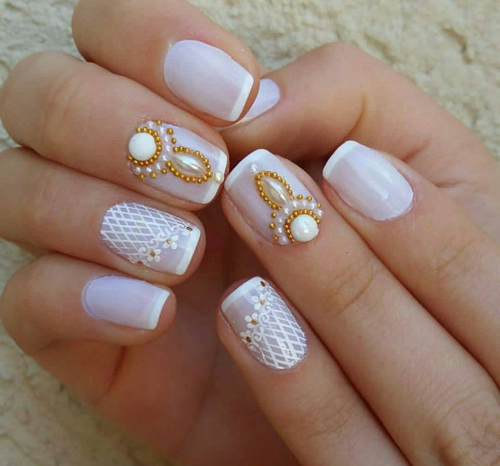 Wedding Acrylic Gel Nail Design - 43+ Gel Nail Designs, Ideas Design Trends - Premium PSD, Vector