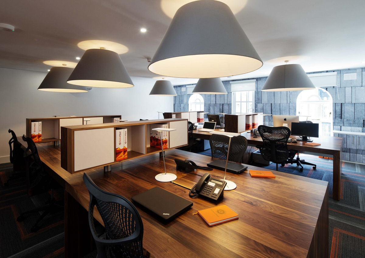 Corporate Office Lighting Idea