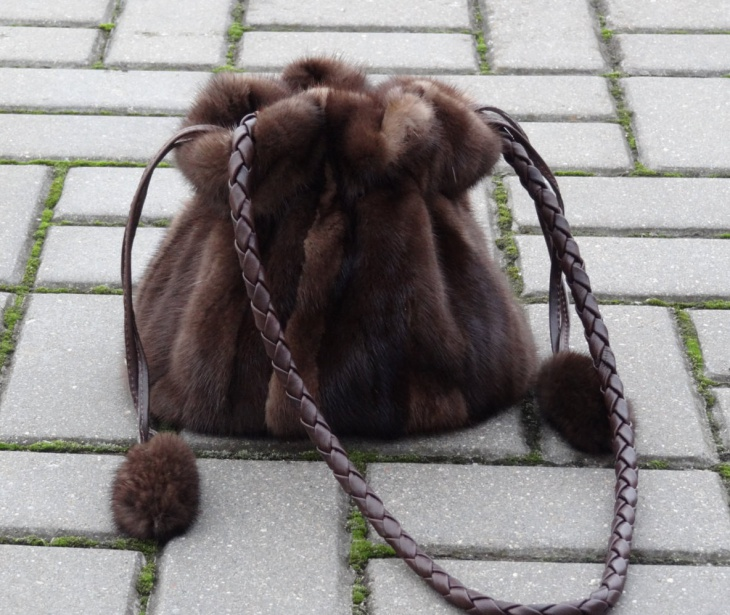 handmade fur handbag