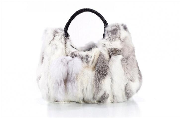 fur designer handbag