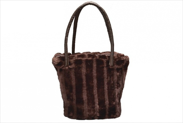 Fur Satchel Handbag