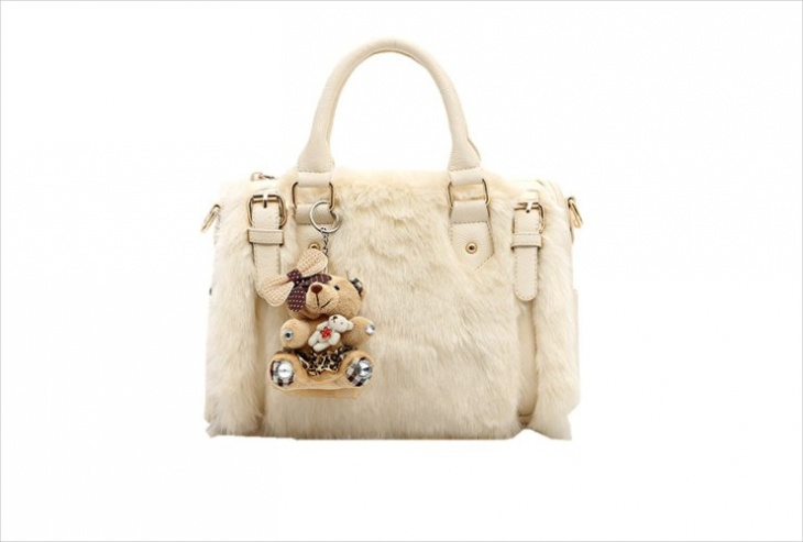 Leather Fur Handbag