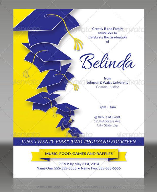 Realistic Graduation Party Invitation
