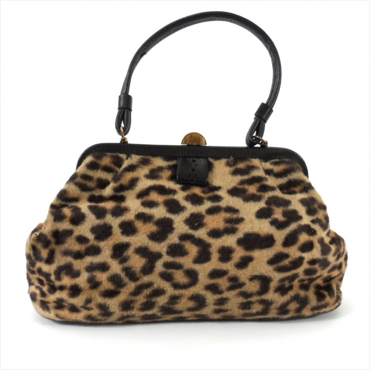 leopard fur handbag design
