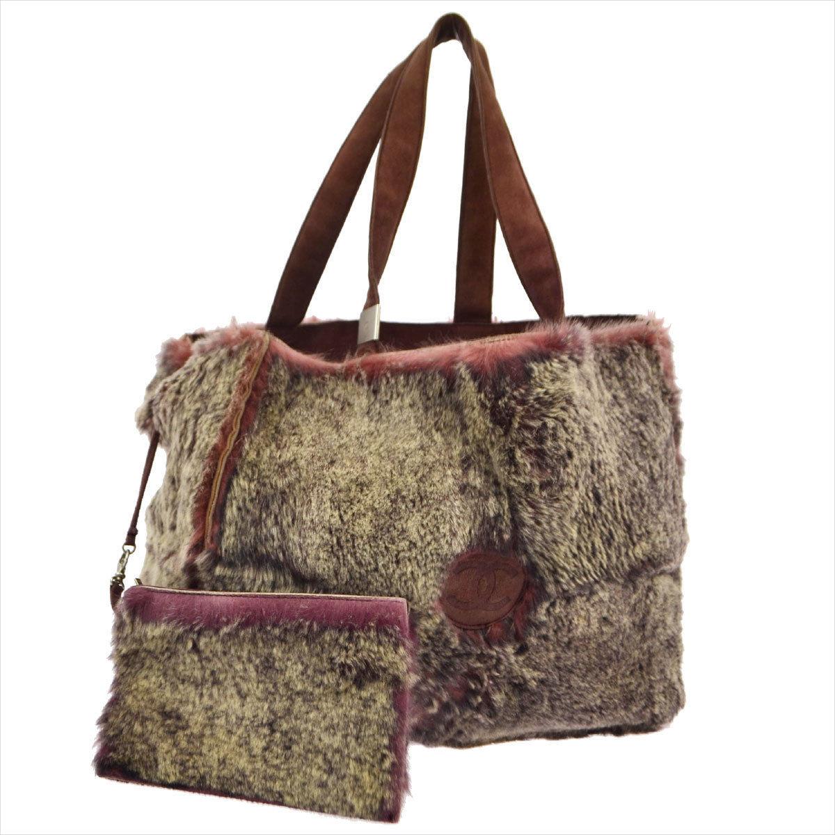 vintage fur handbag