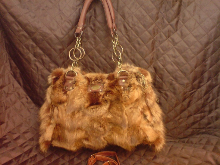 real fur handbag idea
