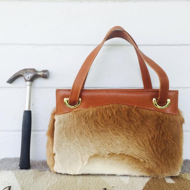 classy fur handbag design
